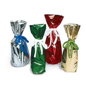 Metallic Mylar Gift Bags for 750ml to 1L Bottles